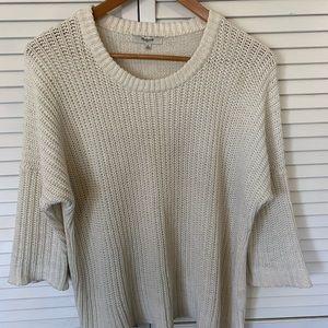 Madewell 3/4 sleeve sweater